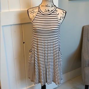 Black and White Striped Tank Dress